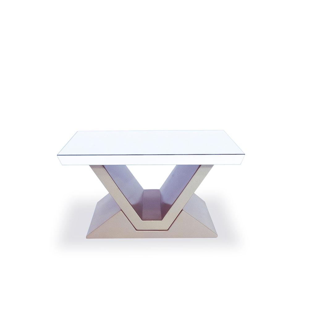 Mesa blanco perla Belen